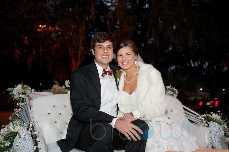 Christmas Wedding Savannah GA Forsyth Park