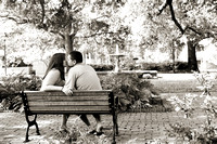 Savannah Engagement Session Columbia Square